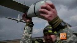 Дрон-шпион летает над Донбассом