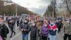 Задержания на марше 1 ноября в Минске