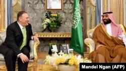 Принц Мухаммад бин Салман на встрече с госсекретарем США Майком Помпео