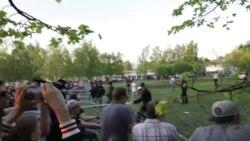 Жители Екатеринбурга протестуют против строительства храма на месте сквера