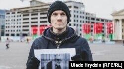 Николай Дедок на акции в поддержку политических заключенных. Минск, Беларусь, 26 февраля 2019 года