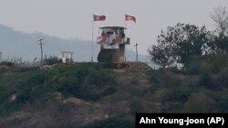 Северокорейский блокпост на границе