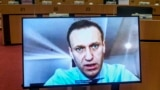 BELGIUM -- Russian opposition leader Aleksei Navalny takes part at a video hearing by European Parliament Foreign Affairs committee in Brussels, November 27, 2020