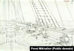 Палуба одного из кораблей