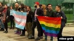 Акция протеста в поддержку секс-меньшинств в Тбилиси