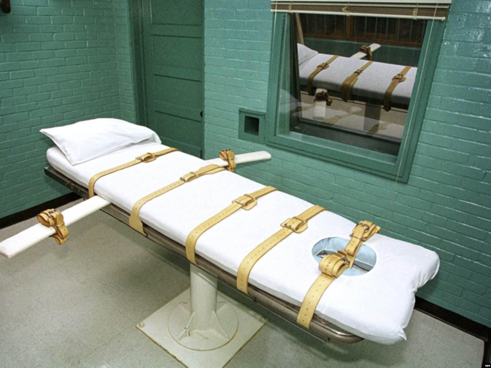 Комната для исполнения наказаний путем введения смертельной инъекции, тюрьма Хантсвилл Юнит, штат Техас, США. Фото: EPA