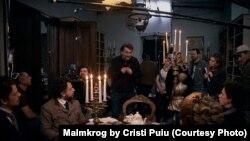 "Кристи Пую на съемках фильма ""Мальмкрог"""