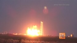 """Американская ракета-носитель """"Антарес"""" взорвалась во время запуска с космодрома НАСА"""
