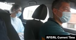A lack of ambulances led to volunteer driver Sergei Bespalov taking paramedics from Irkutsk's polyclinic #15 on their daily rounds.
