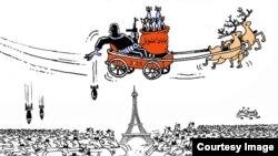 Карикатура об ISIS и ЕС в одной из сирийских газет