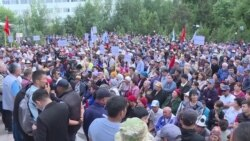 Экс-президент Атамбаев провел митинг в Бишкеке