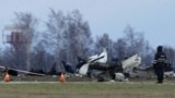 Tatarstan -- Wreckage is seen at the site of a Tatarstan Airlines Boeing 737 crash at Kazan airport, November 18, 2013