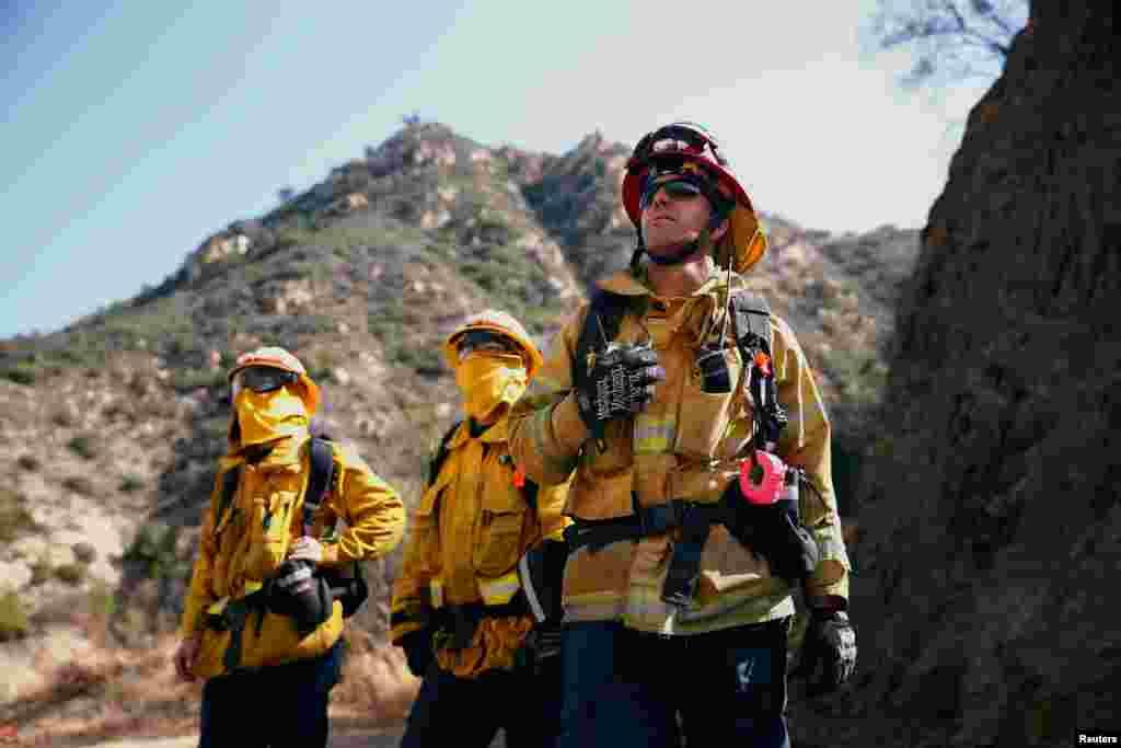 Пожарные в Малибу