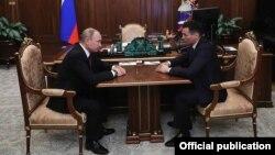 Встреча Путина и Хасикова в Кремле 20 марта