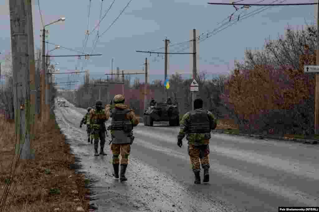 Украинские военнослужащие вблизи Артемовска
