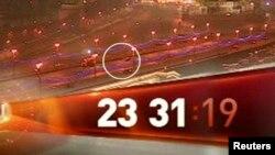 Кадр с камеры наблюдения, зафиксировавшей убийство Немцова