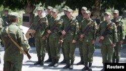 Южноосетинские военные подразделения в Цхинвале