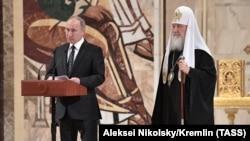 Патриарх Кирилл с Владимиром Путиным
