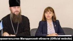 Заместитель председателя правительства Магаданской области Марина Шуфер на рождественских чтениях