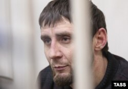 Zaur Dadayev in Moscow's Basmanny District Court on Аugust 3, 2015