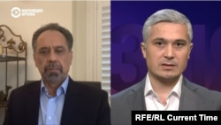 National Resistance Front of Afghanistan representative Ahmad Wali Masud talks with Current Time Asia host Akram Abdukakhor on September 20, 2021.