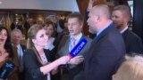 Украинская делегация спела гимн вместо интервью ведущей российского канала