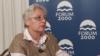 Leyla Yunus speaks to Currenttime.tv during Forum 2000 in Prague in October 2018