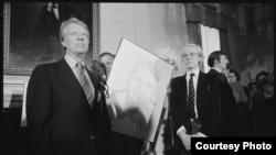 Джимми Картер и Энди Уорхол. 1977 год.