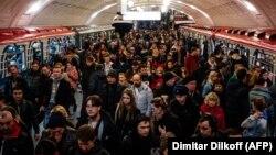 """Станция московского метро """"Библиотека им. Ленина"""""""