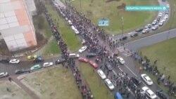 Силовики расстреливают протестующих в Беларуси 22 ноября светошумовыми гранатами