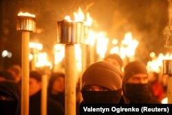 Факельное шествие в день рождения Степана Бандеры, 1 января 2018 года