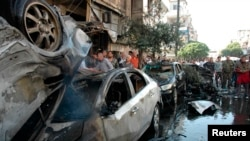 Взрыв автомобиля в Хомсе, апрель 2014