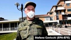 Российский военный в Тревильо, Италия