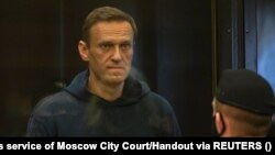 Aleksei Navalny during his February 2, 2021 court hearing