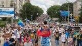 Мирный протест в поддержку бывшего губернатора Хабаровска Сергея Фургала