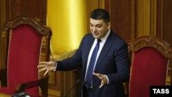 Cпикер Верховной Рады Украины Владимир Гройсман (2 декабря 2014 года)