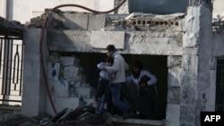 Уничтоженный авианалетом госпиталь в Азазе, Сирия
