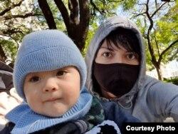 Линда Федотова с сыном. Фото: личный архив