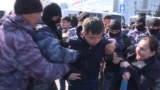 Kazakhstan - protests and arrests in Astana (Nur-Sultan) - screen grab