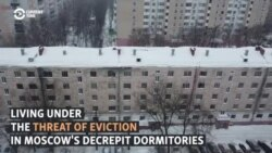 Residents Of Crumbling Moscow Factory Dorms Fight Threat Of Eviction