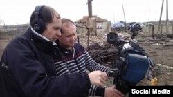 Михаил Акинченко на съемках сюжета в Хакасии, фото - FB Акинченко