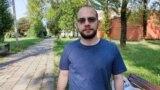 Игорь Ильяш после десяти суток в изоляторе. Фото: белорусская служба Радио Свобода