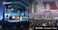 A visual comparison of the All-Belarusian People's Assembly and the Soviet Union's 27th Communist Party Congress in 1986