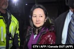 Ванчжоу Мэн после заседания суда в Ванкувере 11 декабря 2018 года