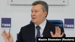 Янукович на пресс-конференции в Москве 2 марта 2018 года