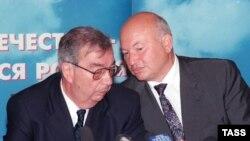 Лужков с Евгением Примаковым в 1999 году