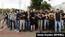 На акции против нерегистрации кандидатами в президенты Виктора Бабарико и Валерия Цепкало, Минск, 14 июля 2020 года