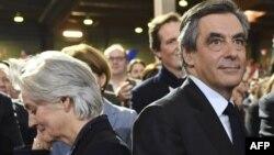 Франсуа Фийон со своей женой