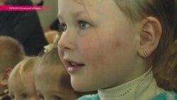 Дети отправили послание мира в Пески