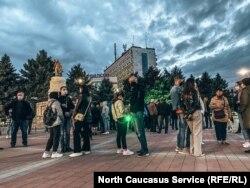 Акция в поддержку Навального в Армавире